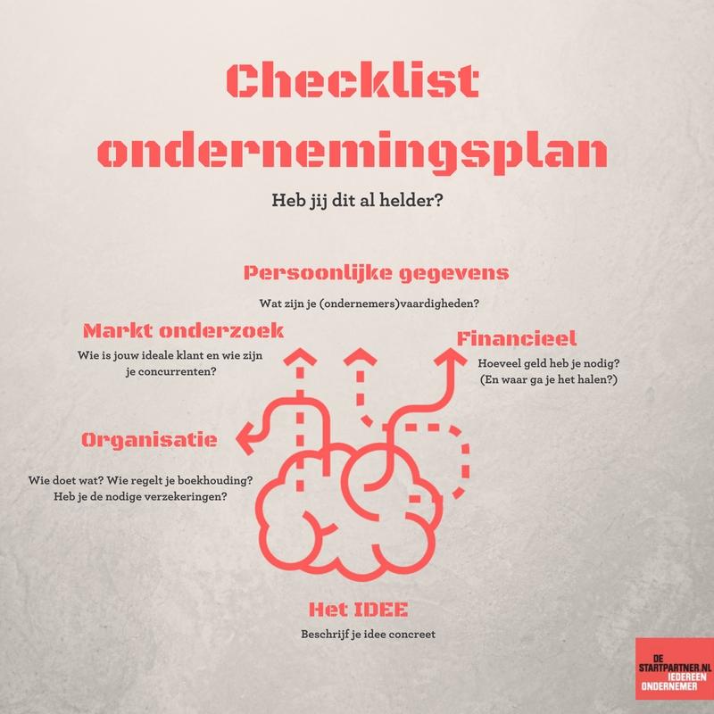 Checklist Ondernemingsplan